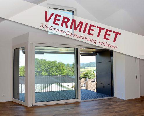3.5-Zimmer Vermietet Schlieren Dachwohnung