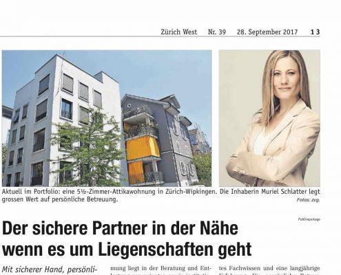 Schlatter-Immobilien-Muriel-Schlatter-Zeitung-Zürich-West